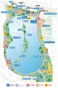 大濠公園の地図