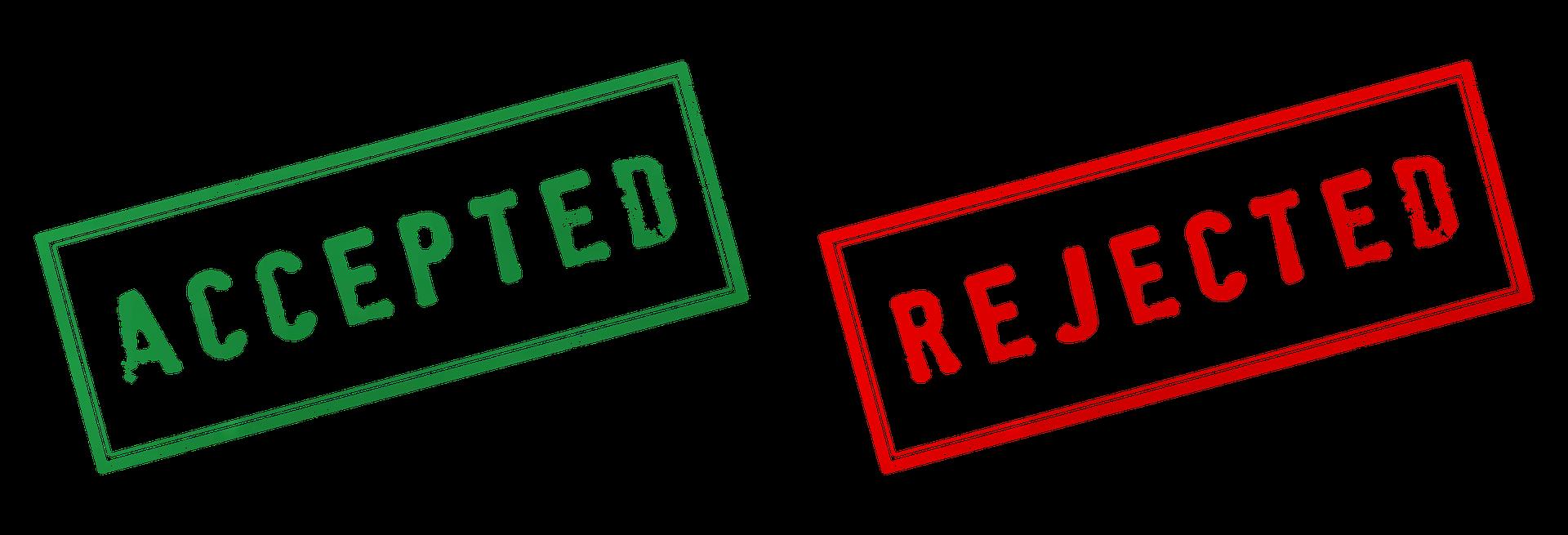 承認と拒否の写真