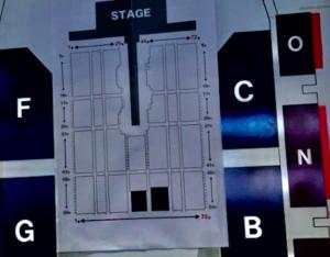 マリンメッセの座席表の写真
