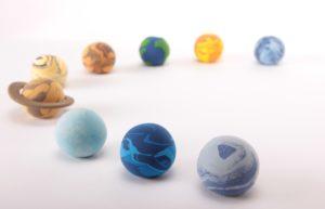 太陽系惑星の粘土細工の写真