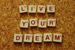 夢(目標)を追求する写真