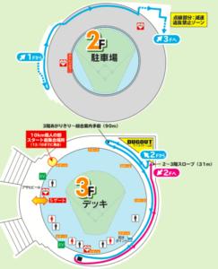 福岡ヤフオクドームリレーマラソンのコースの写真2