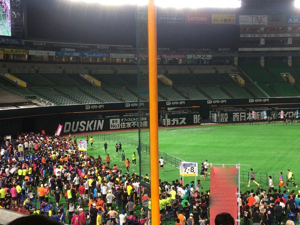 福岡ヤフオクドームリレーマラソン2018ヤフオクドームの内観2