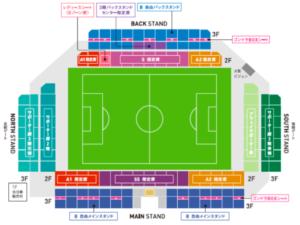 駅前不動産スタジアムの座席表