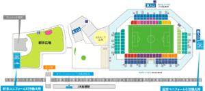 駅前不動産スタジアムの周辺地図
