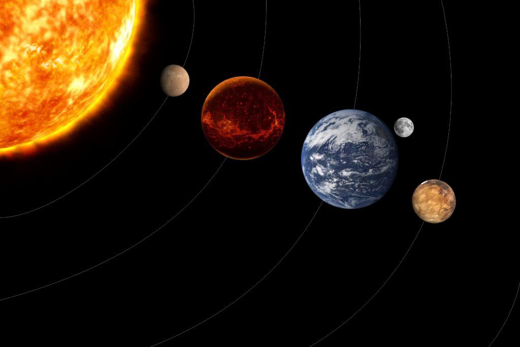 太陽系の写真