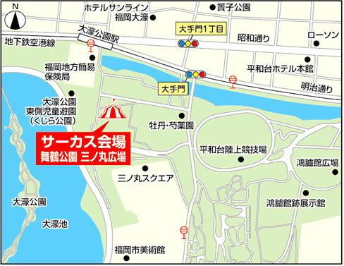 木下大サーカス会場の周辺地図