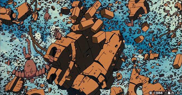 「ムスカ大佐の落下シーン」の写真