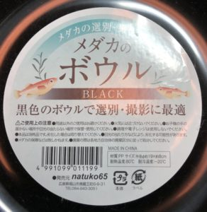 【セリア製】メダカのボウル・その1の写真